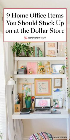 We rounded up eleven useful home office supplies you can source from dollar stores. You'll never have to worry again about keeping your home office stocked, organized, and looking stylish. Kitchen Desk Organization, Home Business Organization, Office Supply Organization, Organization Hacks, Organizing, Decorate Desk At Work, Kitchen Desk Areas, Staying Organized, Organized Desk