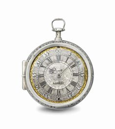 Pierre Romilly. An extremely rare silver pair case quarter repeating verge watch, circa 1700 #ChristiesWatches
