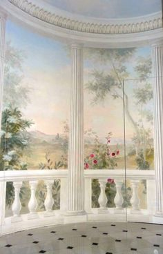 Wallpaper Mural Tricks: How to Choose and Install Bedroom Murals, Wall Murals, Paris France, Ancient Roman Houses, Dining Room Wallpaper, Ganesha Pictures, Paper Backdrop, Ceiling Art, Wallpaper Backgrounds