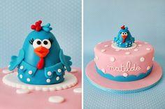 "Cake ""Galinha Pintadinha"" Fondant Horse, Fondant Animals, Baby Cakes, Farm Animal Cakes, Chicken Cake, Farm Cake, Ice Cake, Funfetti Cake, Modeling Chocolate"