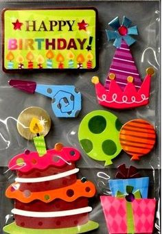 Special Moments Premium Birthday Dimensional Stickers Embellishments