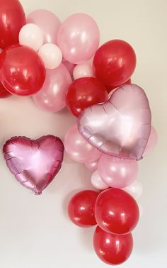 Blowing Up Balloons, Large Balloons, Heart Balloons, Mylar Balloons, Balloon Arch, Balloon Garland, Balloon Decorations, Red Birthday Party, Valentines Day Party