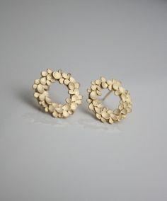Stud Earrings – Dahlia large halo Earrings – a unique product by dkjewellery on DaWanda