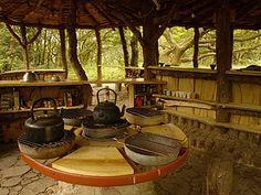 Wonderful outdoor kitchen :) low-impact housing: http://www.simondale.net/house/index.htm