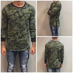 Camouflage sweater men €32,50 #urban #sweater #sweatshirt #shirt #camouflage…