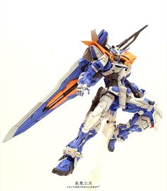MG 1/100 Gundam Astray Blue Frame 2nd Revise - Painted Build