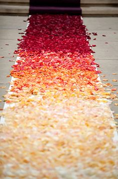 Ombre wedding aisle - My wedding ideas Wedding Aisles, Perfect Wedding, Dream Wedding, Wedding Day, Church Wedding, Wedding Dress, Wedding Shit, Sunset Wedding, October Wedding
