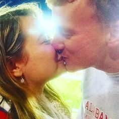 Sometimes we kiss at Alabama Football games #kiss #happy #cute #couple #boyfriend #AlabamaFootball #alabama #football #rolltide #sports #love #instagood #photooftheday #beautiful #smile #follow #followme #instadaily #fun #colorful - See more happy photos @jacquelinecitrin on Instagram