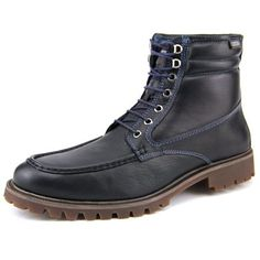 Seoul 00T-6862 Men Leather Blue Boot