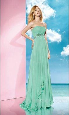 Embellished Floor Sleeveless A-Line Natural Green Evening Dress Cheap ykdress10039