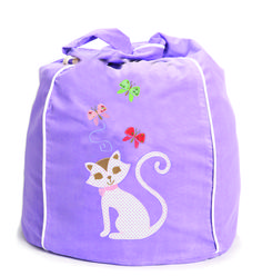 Kitty Kat bean bag in lavender... sooo cute http://www.cocooncouture.com/