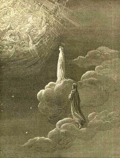 """nigra-lux:  DORÉ, Gustave (1832-1883) """"…vidimi translato / Sol con mia donna in più alta salute"""" (and I beheld myself translated / To higher salvation with my Lady only) (Paradise, c. XIV, vv. 82-83)Ed. Orig."""