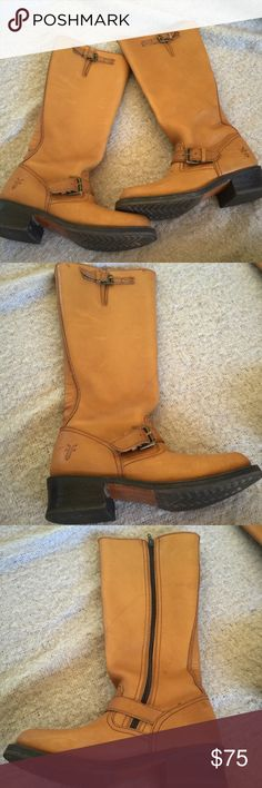 Frye boots! These have been worn but they're still in good condition they do have some marks and scratches please see pictures carefully super comfortable and still look really good bundle for a better price! Frye Shoes Winter & Rain Boots