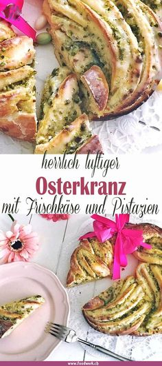 Zu Ostern unser Osterkranz @ At Easter we like to make this yeast dough Easter wreath . Fast Dessert Recipes, Brownie Recipes, Easy Desserts, Dog Food Recipes, Cake Recipes, Cake Serving Chart, Baking Apron, Salad Dressing Recipes, Nutella