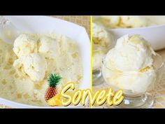 SORVETE CREMOSO DE ABACAXI COM COCO I DE MODO CASEIRO E SUPER FÁCIL I DIKA DA NAKA - YouTube Ice Cream Recipes, Popsicles, Sweet Recipes, Mashed Potatoes, Pudding, Sweets, Eat, Ethnic Recipes, Desserts