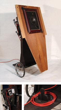 The Speaker. Mixed media sculpture.