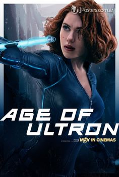 Black Widow - New AVENGERS: AGE OF ULTRON Character Promo Posters Revealed