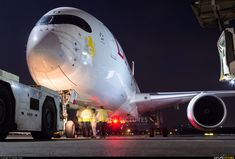 """Ethiopian Airlines A350-900 photo taken by Vaibhav Shah - The First Ever Visit of the Airbus A350 XWB to Mumbai Airport! ET-ATY christened """"Ertale"""" seen here ready for her flight back to Addis Ababa as """"ET611"""". :)"""