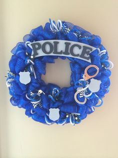 The Police wreath I made for a friends auction. Always out to help the public servants!