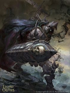Drok, the Death Knight. Fantasy Armor, Medieval Fantasy, Dark Fantasy Art, Dark Art, Death Knight, Knight Armor, Character Portraits, Character Art, Fantasy Monster