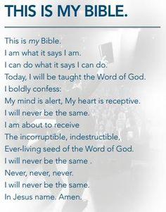 """This is my Bible""  -Joel&John Osteen"