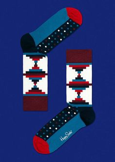 GOOD AS GOLD — HAPPY SOCKS Inca, Burgundy/Blue  http://www.goodasgold.co.nz/collections/happy-socks