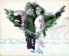 Alex Lannen and Claire Riesen from Syfy's Dominion as portrayed by Christopher Egan & Roxanne McKee.