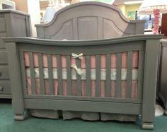 Sugar Crib Weathered Gray - Baby Furniture Plus Kids