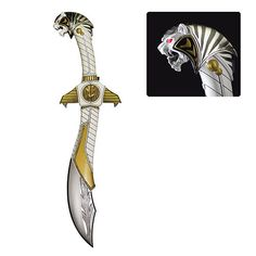 Travel back in time to the Mighty Morphin Power Rangers with this White Ranger Legacy Saba Die-Cast Sword Replica, based on the Saba Sword from the show! Todos Os Power Rangers, Power Rangers Toys, Power Rangers Cosplay, Espada Power Rangers, Power Rangers Tattoo, Fate Tattoo, Tommy Oliver, Pawer Rangers, Geek Decor