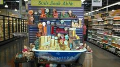 Soaptopia display in new Wholefoods Mkt in Palm Desert. All Natural Soaps!