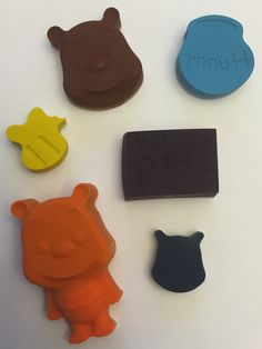 Winnie the Pooh themed crayons * Set of 6 pieces * Perfect for Party Favors * Stocking Stuffers * Small Gifts