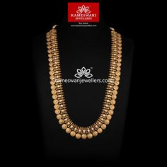 Classic Antique Kasumala With CZ's Antique Jewellery Designs, Gold Jewellery Design, Gold Jewelry, Dreadlock Jewelry, Necklace Online, Necklace Designs, Custom Jewelry, Temple Jewellery, Bridal Jewellery