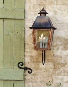 Gas Lanterns, Entry Lighting, Lighting Ideas, Gas Lights, Outdoor Light Fixtures, Exterior Lighting Fixtures, Brass Outdoor Lighting, Outdoor Lantern, Copper Lighting
