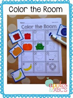 Color the room activity....items in sensory bag to increase searching skills?
