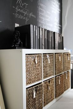 43 Inspiring And Thoughtful Home Office Storage Ideas : Home Office Storage Ideas With White Black Wall Wooden Cabinet Storage Hardwood Floor