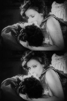 """Greta Garbo and John Gilbert, in Clarence Brown's film, """"The Flesh and the Devil,"""" 1926."""