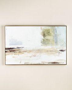 """Beyond Belief"" Original Giclee at 64"" floating wood frame w/ silver leaf finish"