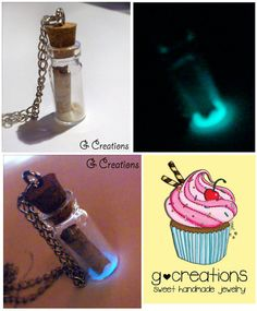 LOTR Bottle Necklace GLOW in the DARK  by GabriellesCreations 30% #DISCOUNT #coupon #code 2015WISHES