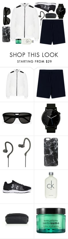 """Sporty Streetwear for Him"" by jacqueen ❤ liked on Polyvore featuring Camo, Yves Saint Laurent, Motorola, Avia, Casetify, Under Armour, Calvin Klein, Coach, Bumble and bumble and men's fashion"