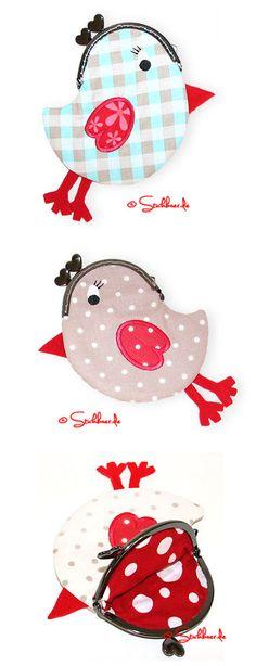 Der Stickbär   Designbeispiel: Birdiebag