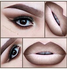 50 Sexy and Perfect Ombre Lips Makeup ideas 2015 Nyx Makeup, Love Makeup, Makeup Inspo, Makeup Inspiration, Makeup Tips, Makeup Looks, Hair Makeup, Makeup Ideas, Lipstick Colors
