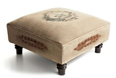 One Kings Lane - The French Connection - Bordeaux Canvas Stool