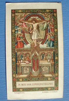 451 ANTIQUE  HOLY CARD GOLDPRINT