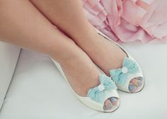 The Belle je t'aime ruffle bow shoe clips by thebelleandthebeau, $34.00