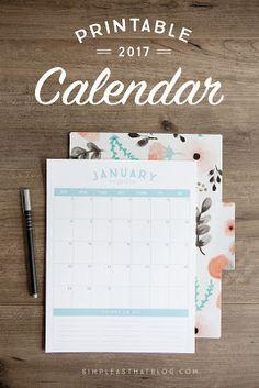 Free printable 2017 vertical calendar