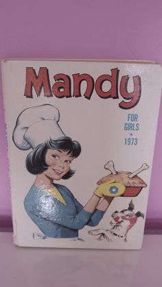 Vintage 1970's Kitsch Mandy Girl's Annual 1973, Cartoon Story Book Cute Retro, Good Condition