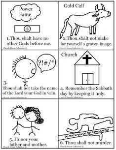 thou shalt a graven image coloring page ten commandment exodus