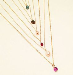 Did you know that you can customize your birthstone necklace? Just come to our website and choose the right one for you