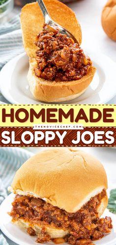 In need of an easy party idea for Father's Day? This turkey sloppy joe recipe will save you! It's sloppy but it's packed with tons of flavors that your family will surely love. Add this to your 4th of July menu too! Homemade Sloppy Joe Recipe, Homemade Sloppy Joes, Sloppy Joes Recipe, Meat Recipes, Appetizer Recipes, Snack Recipes, Yummy Recipes, Appetizers, Salads