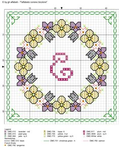 Cross Stitch Letters, Cross Stitch Cards, Cross Stitching, Cross Stitch Designs, Stitch Patterns, Biscornu Cross Stitch, Yellow Plums, Alphabet And Numbers, Stitch 2